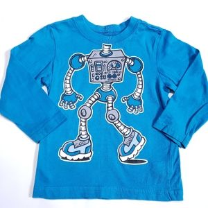 18-24M Robot Long-sleeved Tee Blue